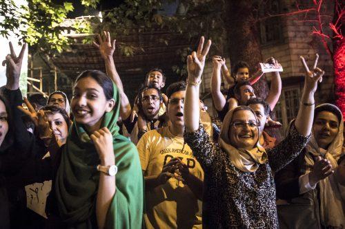 Iran Nuclear Deal celebrate